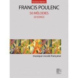 POULENC 50 MELODIES POUR VOIX ELEVEE CHANT ET PIANO DF16403