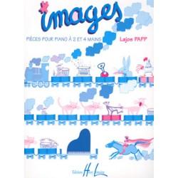 LAJOS PAPP IMAGES POUR PIANO 2 ET 4 MAINS HL26766