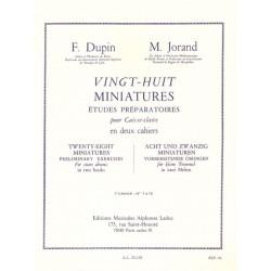 DUPIN JORAND 28 MINIATURES CAHIER 1 AL25135
