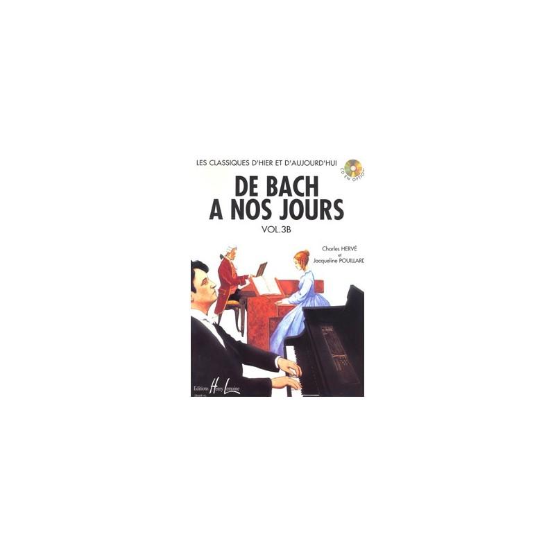 PARTITION PIANO DE BACH A NOS JOURS 3B HL28668 LE KIOSQUE A MUSIQUE