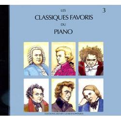 LES CLASSIQUES FAVORIS DU PIANO VOLUME 3 LE CD HLP1046D