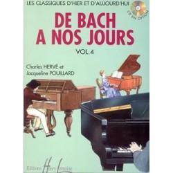 PARTITION PIANO DE BACH A NOS JOURS 4A HL26316 LE KIOSQUE A MUSIQUE