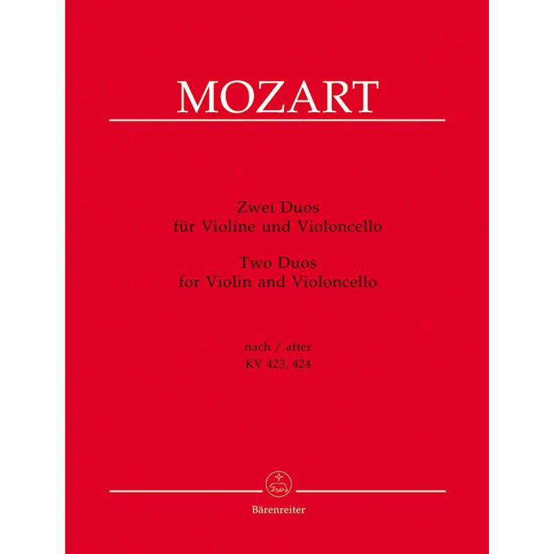 Partition duos violon et violoncelle MOZART BA9164 Le kiosque Musique Avignon