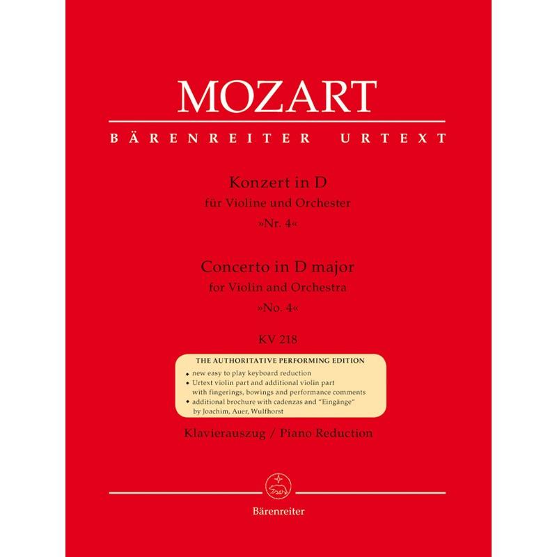 MOZART CONCERTO VIOLON N°4 BARENREITER BA4866A Le kiosque à musique