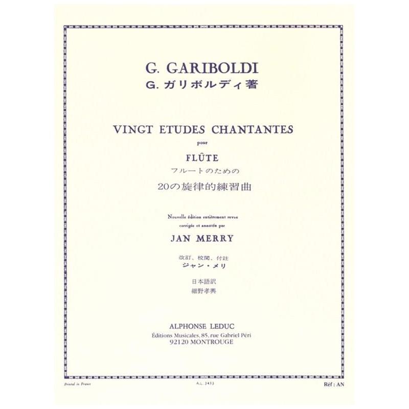 GARIBOLDI 20 ETUDES CHANTANTES LEDUC AL03433