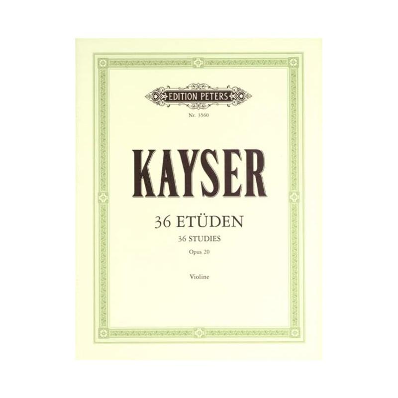 ETUDES DE KAYSER POUR VIOLON EP3560 LE KIOSQUE A MUSIQUE