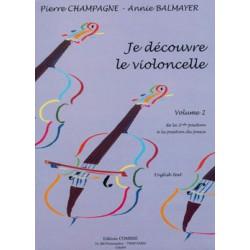 PIERRE CHAMPAGNE JE DECOUVRE LE VIOLONCELLE VOLUME 2 C06099