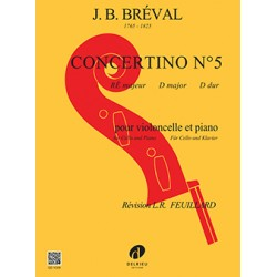 BREVAL CONCERTINO N°5 RE MAJEUR VIOLONCELLE GD1029