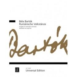 BARTOK DANSES ROUMAINES VIOLONCELLE ET PIANO UE13265