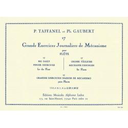 TAFFANEL 17 GRANDS EXERCICES JOURNALIERS AL17204 LE KIOSQUE A MUSIQUE