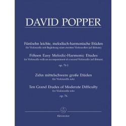 DAVID POPPER 15 ETUDES MELODIQUES BA6979