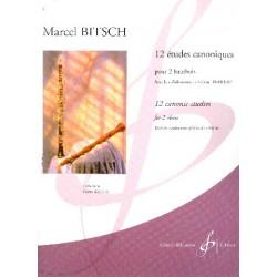 MARCEL BITSCH 12 ETUDES CANONIQUES 2 HAUTBOIS G9853B