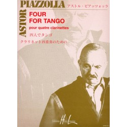 PIAZZOLLA FOUR FOR TANGO 4 CLARINETTES HL26968