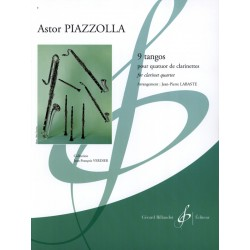 PIAZZOLLA 9 TANGOS POUR 4 CLARINETTES G8641B BILL8641