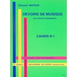 MAYEUR DEVOIRS DE MUSIQUE CAHIER 1 Le kiosque à musique Avignon