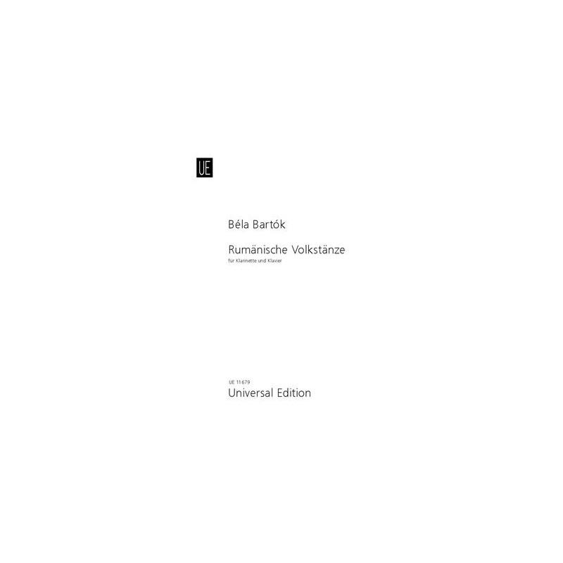 BELA BARTOK DANSES ROUMAINES CLARINETTE UE11679
