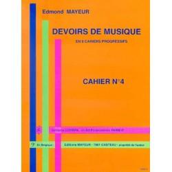 DEVOIRS DE MUSIQUE - CAHIER 4