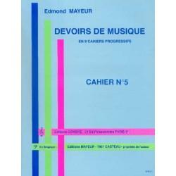 DEVOIRS DE MUSIQUE - CAHIER 5