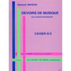 DEVOIRS DE MUSIQUE - CAHIER 6