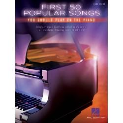 PARTITION FIRST 50 POPULAR SONGS HL00131140 AVIGNON