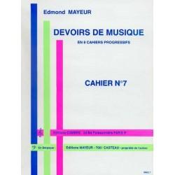 DEVOIRS DE MUSIQUE - CAHIER 7