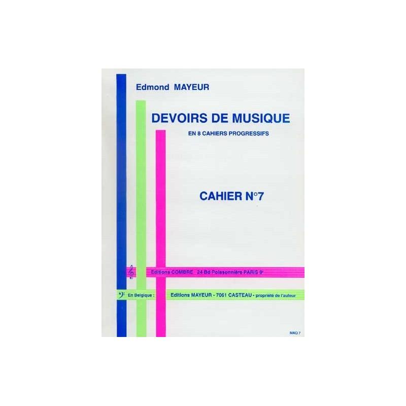 Edmond MAYEUR - Devoirs de musique cahier 7 - Avignon
