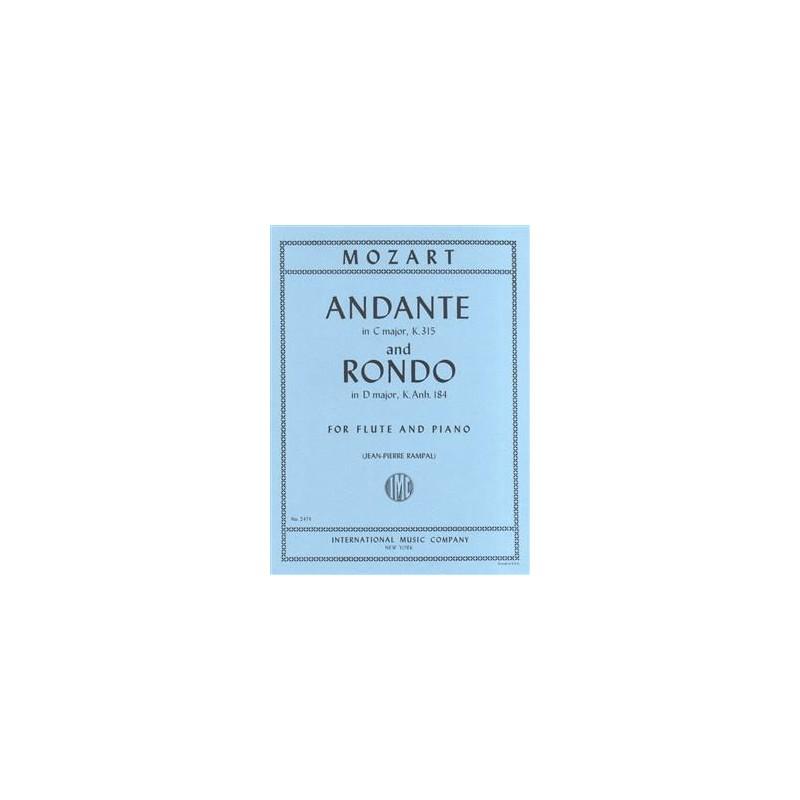 Partition Mozart Andante et Rondo pour flûte - Kiosque musique Avignon