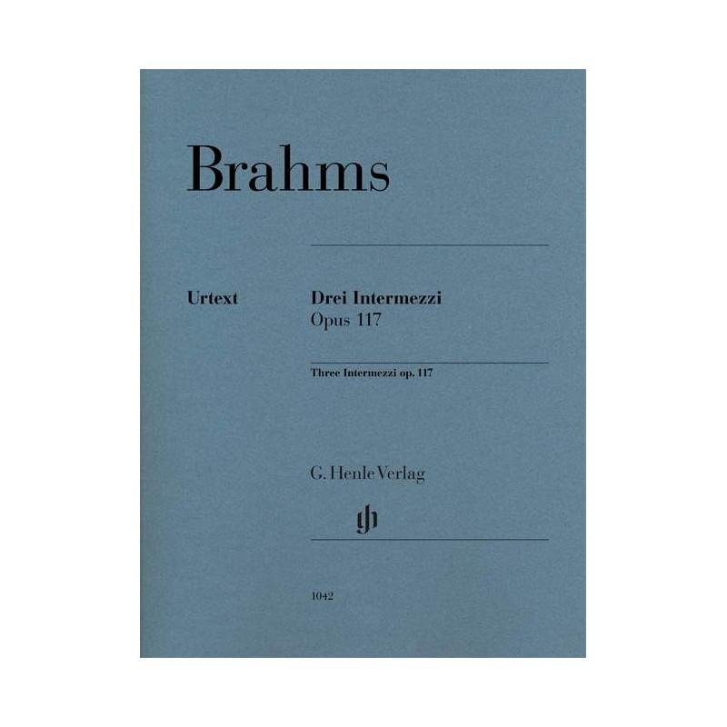 PARTITION PIANO BRAHMS INTERMEZZI HN1042 LE KIOSQUE A MUSIQUE AVIGNON