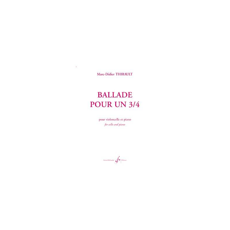 PARTITION VIOLONCELLE BALLADE POUR UN 3/4 G3793B BILL3793 LE KIOSQUE A MUSIQUE