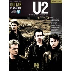 PARTITION TABLATURES U2 GUITAR PLAY ALONG 121 LE KIOSQUE A MUSIQUE