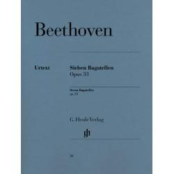 PARTITION PIANO BEETHOVEN BAGATELLES OPUS 33 HN20 LE KIOSQUE A MUSIQUE