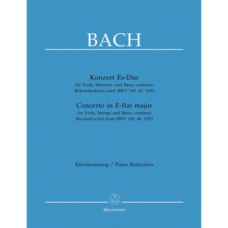 PARTITION BACH CONCERTO ALTO BWV 169 BWV 49 BWV 1053 BA5149-90 Le kiosque à musique