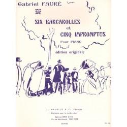 Partition piano Gabriel Fauré Barcarolles et impromptus HE09052 le kiosque à musique Avignon