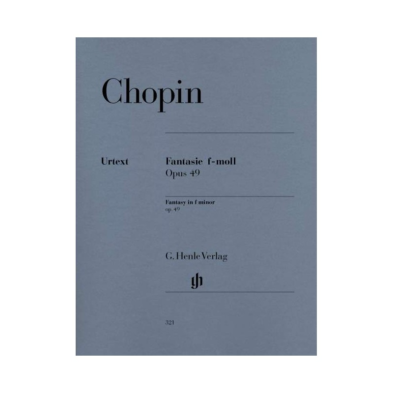 PARTITION PIANO CHOPIN FANTAISIE OPUS 49 HN321  LE KIOSQUE A MUSIQUE