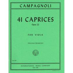 PARTITION ALTO CAMPAGNOLI 41 CAPRICES LE KIOSQUE A MUSIQUE