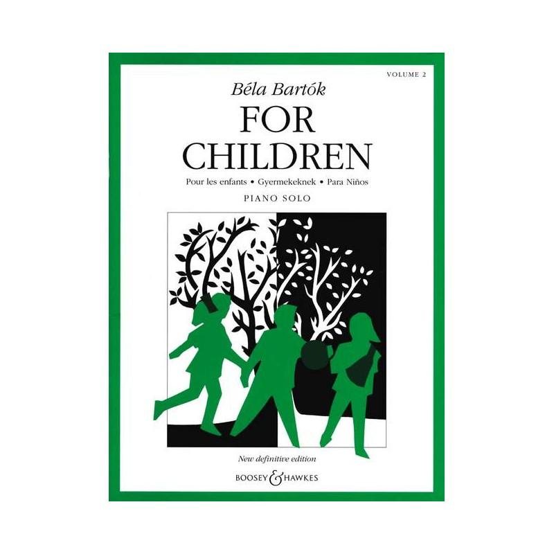 PARTITION PIANO BARTOK FOR CHILDREN BH11231 LE KIOSQUE A MUSIQUE