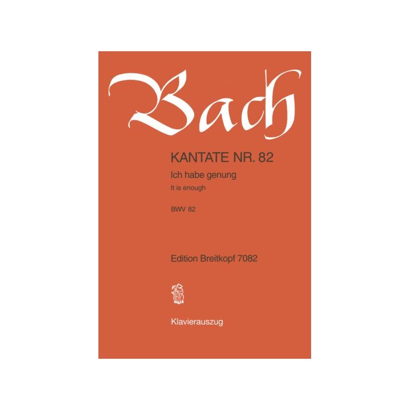 PARTITION CANTATE N°82 DE BACH EB7082 LE KIOSQUE A MUSIQUE