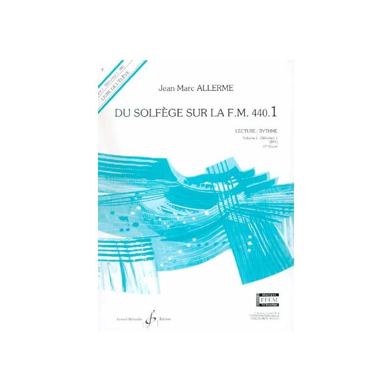 PARTITION DU SOLFEGE SUR LA FM 440.1 G5167B LE KIOSQUE A MUSIQUE