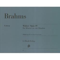 PARTITION PIANO 4 MAINS BRAHMS VALSES HN67 LE KIOSQUE A MUSIQUE