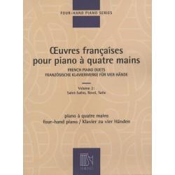 PARTITION PIANO 4 MAINS OEUVRES FRANCAISES DF15806 LE KIOSQUE A MUSIQUE