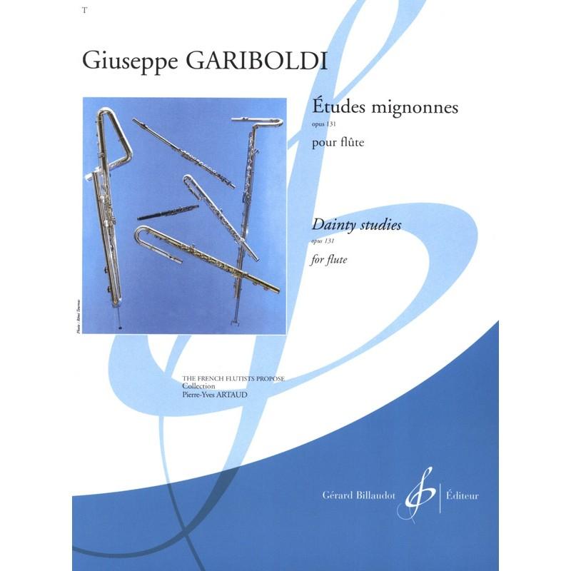PARTITION FLUTE GARIBOLDI ETUDES MIGNONNES GB6633 LE KIOSQUE A MUSIQUE
