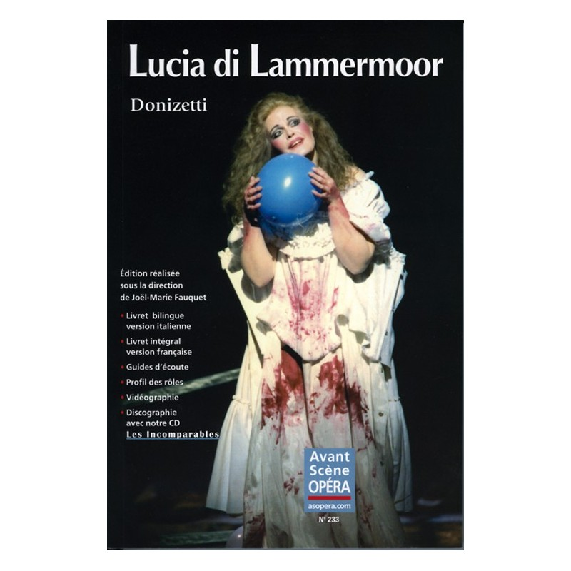 LIVRET D'OPERA LUCIA DI LAMMERMOOR LE KIOSQUE A MUSIQUE