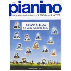 PARTITION PIANO PIANINO LE BEAU DANUBE BLEU LE KIOSQUE A MUSIQUE