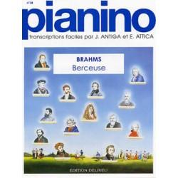 PARTITION PIANO PIANINO BRAHMS BERCEUSE LE KIOSQUE A MUSIQUE