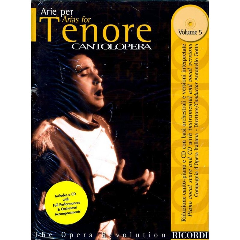 PARTITION ARIE PER TENORE CANTOLOPERA NR139598 LE KIOSQUE A MUSIQUE