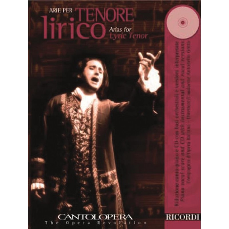 PARTITION ARIE PER TENORE LIRICO NR139852 LE KIOSQUE A MUSIQUE