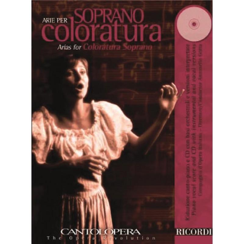 PARTITION ARIE PER SOPRANO COLORATURA CANTOLOPERA NR139851 LE KIOSQUE A MUSIQUE