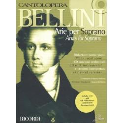 PARTITION ARIE PER SOPRANO BELLINI CANTOLOPERA NR139606 LE KIOSQUE A MUSIQUE