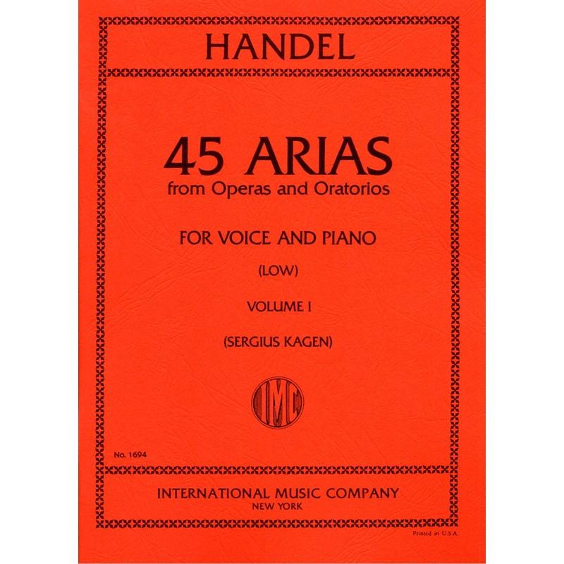 Partition Haendel 45 Arias voix grave IMC1694 Le kiosque à musique Avignon
