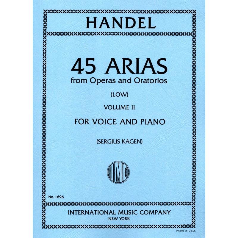 Partition Haendel 45 arias voix grave IMC1696 Le kiosque à musique Avignon